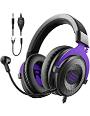 $29 » EKSA E900 Gaming Headset with Microphone - PC Headphone with Detachable Noise Canceling Mic, Gaming Headphones Compatible with PS4/PS5 Controller, Xbox One, Nintendo Switch, PC, Computer, Call Center