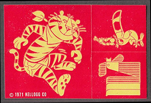 - Kellogg's Frosted Flakes Tony Tiger Froot Loops Toucan crack-n-peel sticker 1971