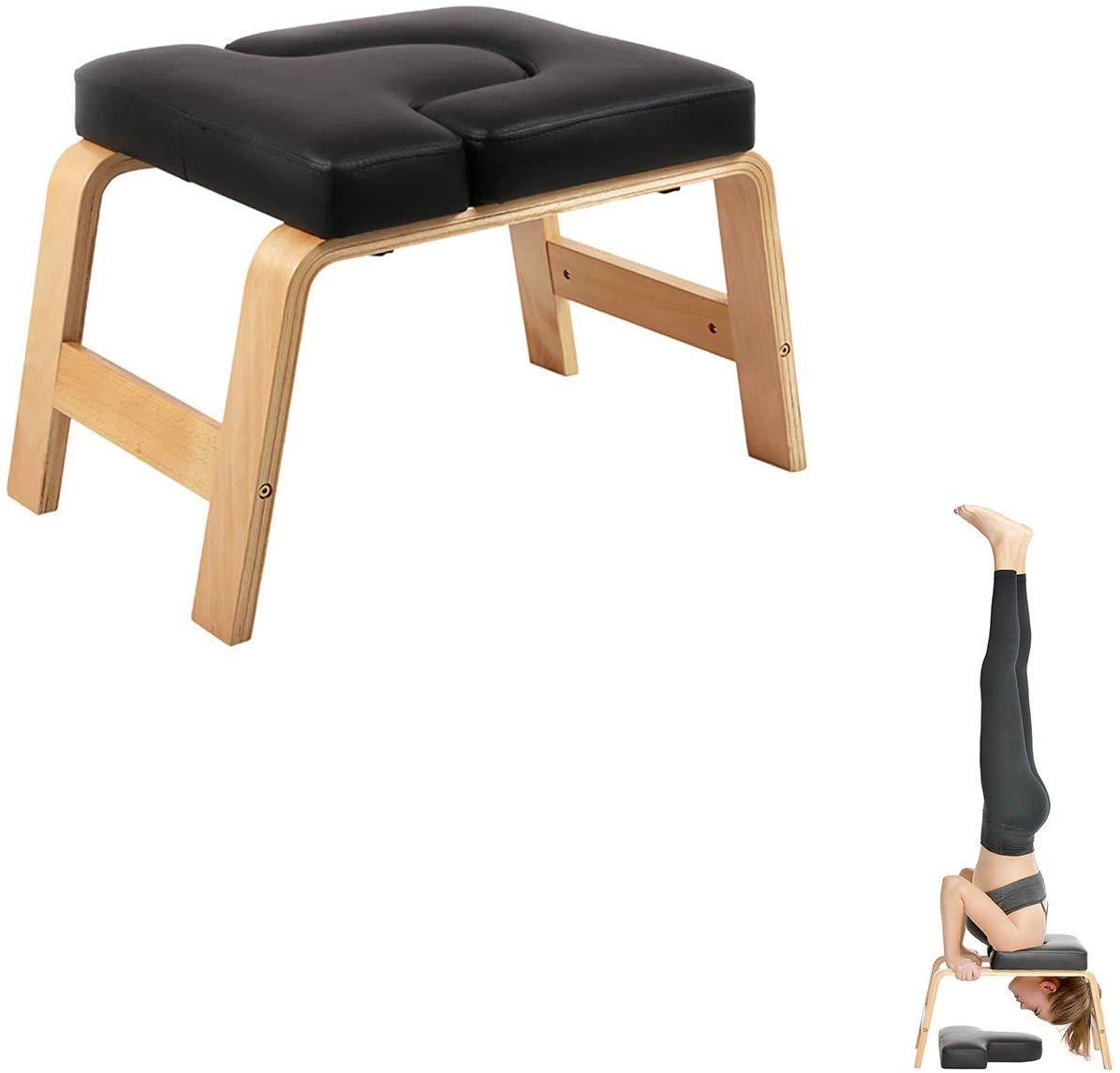 GERGVXA Wooden Headstand Bench Yoga für die Praxis Kopfstand, Schulterstand, Handstand und Vers edene Yoga-Posen.   Vervollkommnen Sie für Anfänger und erfahren Sie Yogis