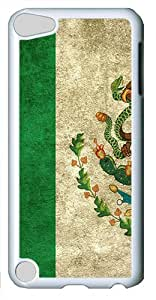 Grunge Mexican Flag Custom iPod Touch 5 Case Cover šC Polycarbonate šC White