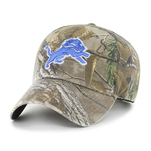 (NFL Detroit Lions Realtree OTS Challenger Adjustable Hat, Realtree Camo, One Size)