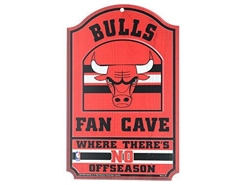 WinCraft NBA Chicago Bulls 38306012 Wood Sign, 11'' x 17'', Black by WinCraft