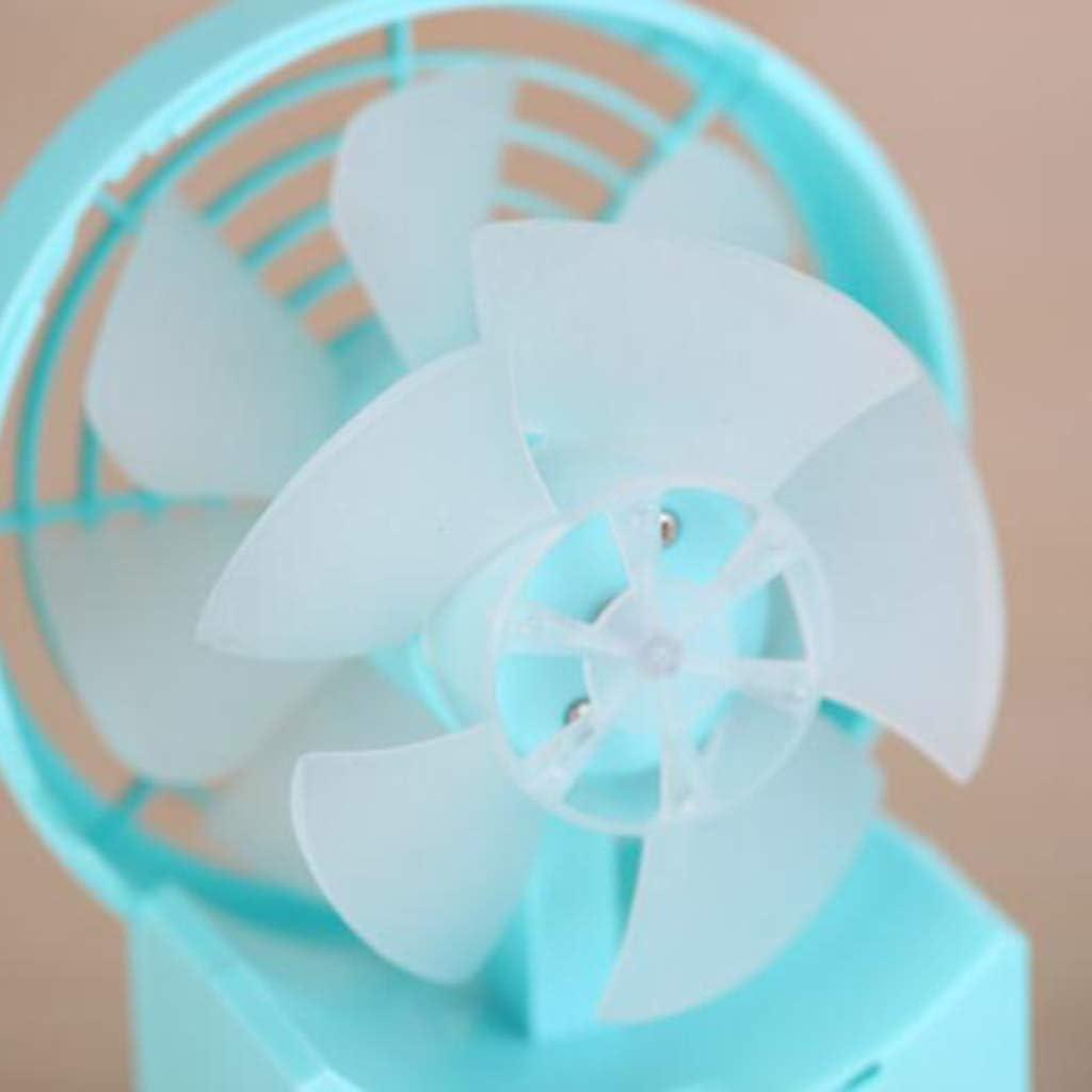 KIMSAI Large Two-Leaf USB Fan 5-Inch Mini Fan USB Mini Fan Silent Learning Office Fan Desktop Fan Cooling Fan Desktop Portable Personal Fan,Blue