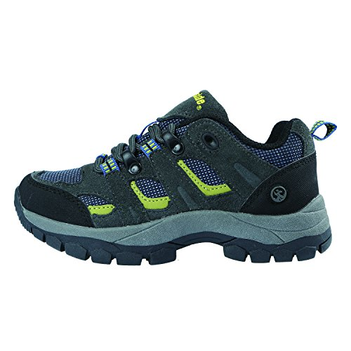 Image of Northside Monroe Low Junior Hiking Boot , Blue/Lime, 6 M US Big Kid