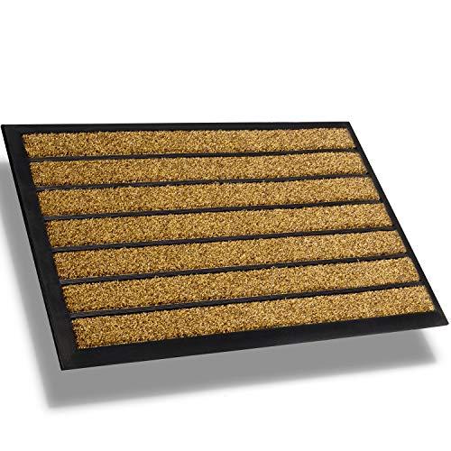 Extra Durable Striped Front Door Mat Outdoor - Rubber Doormat Indoor - Non-Slip Doormat Rug (30 x 18) Back Front Doormat - Welcome Mat - Easy Clean Outdoor Doormat - Door Mat Outside Inside