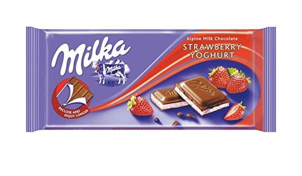 Milka Yoghurt 100g de chocolate de la fresa: Amazon.es: Alimentación y bebidas