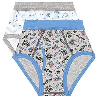 Slugger Blue & Grey Cotton Brief 2 Piece Underwear Pack For Boys