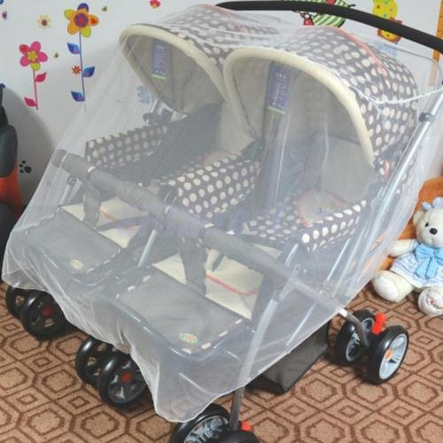 [White Mosquito Net for Baby Double Carriage Stroller Pram Net Cover Goods Shop] (Beetle Wings Costume)