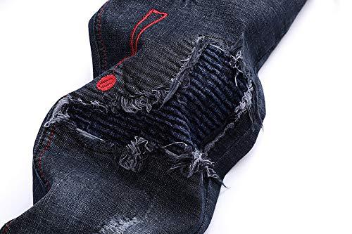 Plis Lavage B Date Liquidation Taille Glissière Mode Effiloché Jeans Bleu Fermeture lin De Patchwork Hommes À Pantalon Casual Vintage Travail Base Grande Day wBAqY0xx