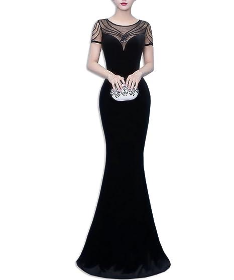 KAXIDY Ladies Elegant Maxi Dresses Evenng Prom Ball Gown Long Fishtail Wedding Bridesmaid Dress (Small