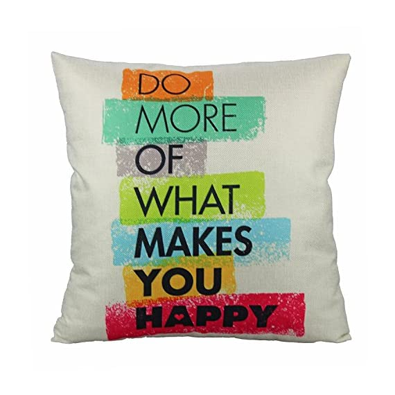VAKADO Inspirational Quotes Saying Outdoor Throw Pillow Covers Colorful Decorative Words Letters Cushion Cases Home Decor for Couch Sofa Office 18x18 Inch Set of 4 - Pattern: Colorful Inspirational Sayings (You can do it, Live Simply Dream Big Be Grateful Give Love Laugh Lots, Do more of what makes you happy, Live Laugh Love);BEIGE Background. Size: 18x18 Inches (about 45x45 cm); Qty: 4pcs (only cover, no insert) Perfect encouraging gift for men, women, kids, teens, friends and so on; Perfect Decoration for Sofa, Couch, Bed, Bedroom, Living room, Patio, Office, Library, Car, Shop, Outdoor and so on. - patio, outdoor-throw-pillows, outdoor-decor - 51HTmZxXARL. SS570  -