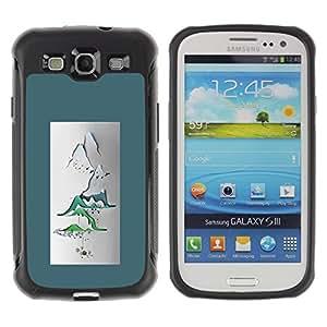 Suave TPU GEL Carcasa Funda Silicona Blando Estuche Caso de protección (para) Samsung Galaxy S3 III I9300 / CECELL Phone case / / Paper Art Poster Japan Zen /