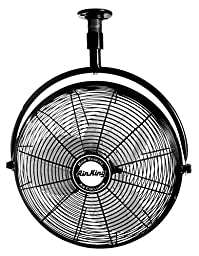 Air King 9320 20-Inch 1/6-Horsepower Industrial Grade Ceiling Mount Fan with 3,670-CFM, Black Finish