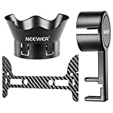 Neewer Protective Camera Lens Cap Cover and Flower-type Rose Petal Lens Hood Made of Premium ABS Plastic and Carbon Fiber Gimbal Guard for DJI Phantom 3 Standard, Professional and Advanced, Black