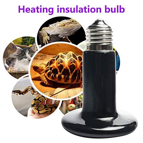 MamonLord LED Bulbs & Tubes - New Pet Ceramic Heating Lamp 25W 50W 75W 100W 150W 200W IR Heat Emitter Bulb 220-240V Turtle Snake Lizard Heater Lamp 1 PCs