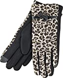 True Gear North Women's Winter Fashion Wildcat Animal Print Touch Gloves (Tan Leopard Print)
