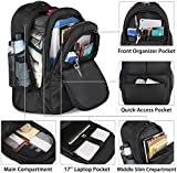 Rolling Backpack, 17 Inch Large Roller Backpack for