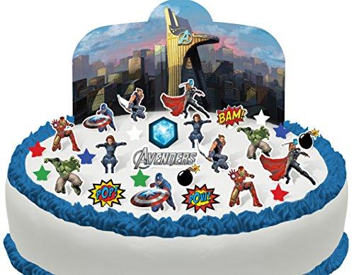 Scène pour gâteau Les Avengers comestible PRÉ-DÉCOUPÉE - 28 décorations par Cakeshop