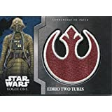 Star Wars Rogue One Mission Briefing Commemorative Patch Card MP-9 Edrio Two Tubes - Rebel
