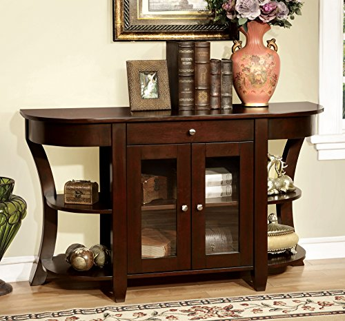 Furniture of America Cartwright Transitional Console Table, Dark Cherry ()