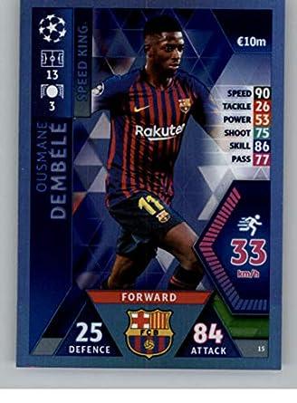85ba5d979b1 2018-19 Topps UEFA Champions League Match Attax  15 Ousmane Dembele FC  Barcelona Official