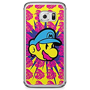 Loud Universe Mario brother Samsung S6 Edge Case Face Color Mario Samsung S6 Edge Cover with Transparent Edges