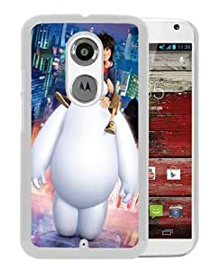 Motorola Moto X 2nd Generation Big Hero 6 Hiro Baymax White Screen Phone Case Genuine and Unique Design