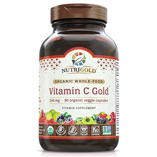 NutriGold Organic Whole-Food Vitamin C 240 mg 90 plantcaps