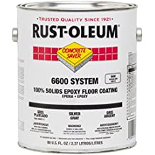 Rust-Oleum 283585 Clear 6600 System Concrete Saver Less than 100 VOC Heavy Duty Maintenance Floor Coating, 2 Gallon Can