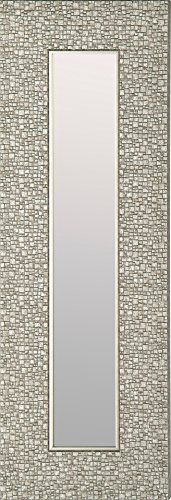 Mirrorize Canada Set of 3 Antique Narrow Mosaic Framed  Wall Mirror| Vanity,Hallway,Bathroom, Bedroom |9.25X27.75| Silver| Rectangle| Small Accent Mirror
