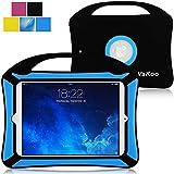 Vakoo iPad Mini 4 Case, iPad Mini 4 Kids Proof Shockproof Drops Protection Soft Silicone Heavy Duty Handle Cover Case for Apple iPad Mini 4, Black/Blue