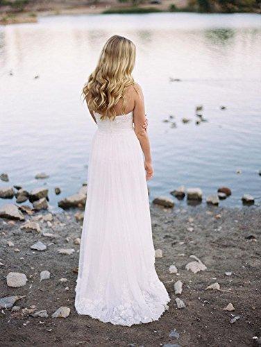YoYodress Strand Brautkleider Öffnen Sie zurück Hochzeitskleider ...