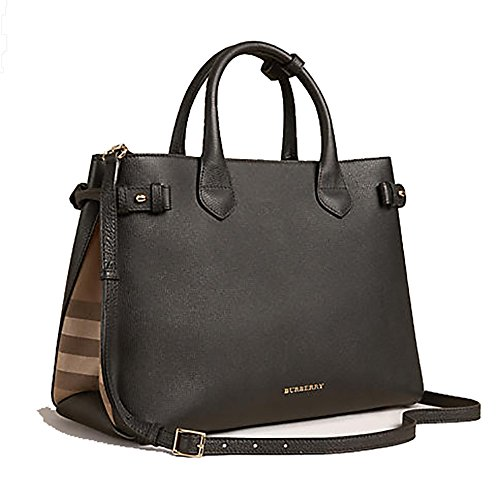 tote-bag-handbag-authentic-burberry-the-medium-banner-in-leather-and-house-check-black-item-39589781
