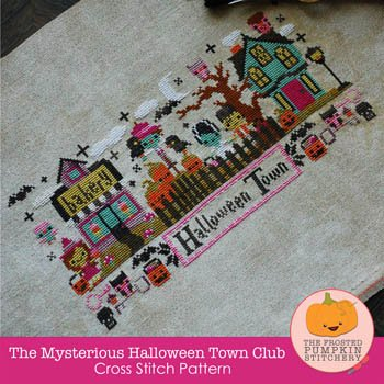 The Mysterious Halloween Town Cross Stitch Chart ()