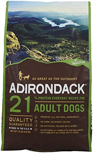 Adirondack Pet Food 22452 21% Protein Everyday Recipe For Adult Dogs, 15Lb. (Adirondack Dog)