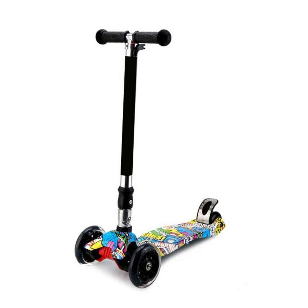 JIN Kinderwagen-Breitrad-Klapp-Graffiti-Vierrad-Blitz (Farbe     C) B07Q1GLQ2H Skateboards Stimmt 5578ee