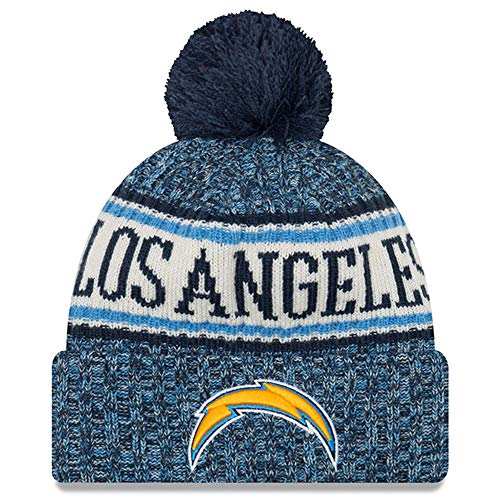 San Diego Chargers Stocking - New Era Knit San Diego Chargers Blue On Field Sideline Sport Knit Winter Stocking Beanie Pom Hat Cap 2015