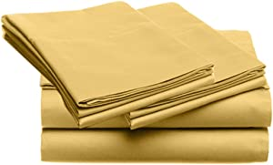 SUPER SOFT Microfiber Loft 21 Collection, KING 4pc Sheet Set, 2-LOF21S-231, Solid STRAW