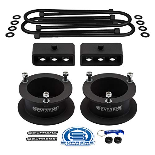 """Supreme Suspensions - Full 3"""" Front + 2"""" Rear Lift for 2003-2012 Dodge Ram 2500 3500 4WD (Includes 16.25"""" Round Bend U-Bolts for Overload Models with 4"""" Axle)"""