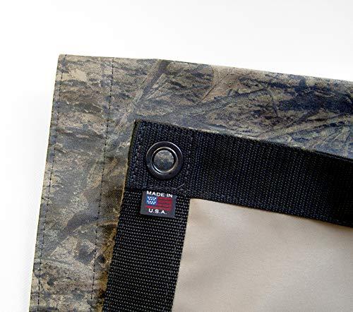 Tarp, Heavy Duty, Top Gun Fabric True Timber Camouflage 457, Reinforced Edges & Heavy Duty #4 Black Oxide Spur Grommets (3' X 4' Feet)