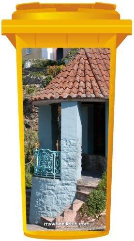 Azul español entrada basura wallkraft Panel, mediano: Amazon.es: Hogar