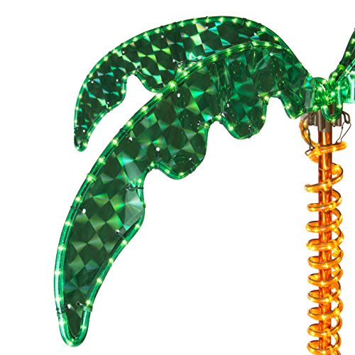 LED Deluxe Rope Light Palm Tree - Green - 7' Deluxe LED Lighted Palm Tree by Wintergreen Lighting (Image #2)