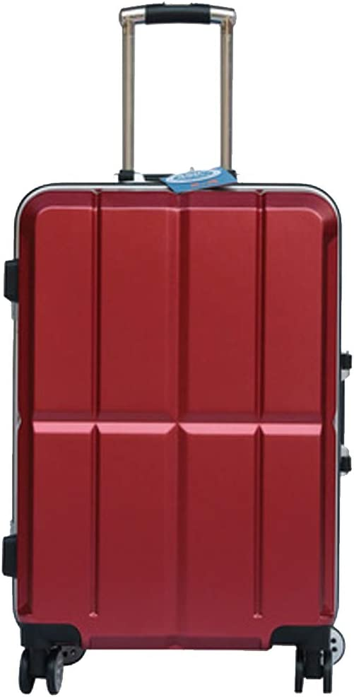 Hard Case Rotating Suitcase 20//22//24//26 Inches Muziwenti Carry Suitcase Simple and Black The Latest Style Color : Red -6, Size : 20 Simple