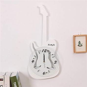 guyuell Reloj De Pared De La Guitarra Eléctrica del Diseño De 23 Pulgadas Reloj De Pared