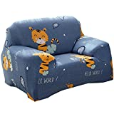 Matefield Elastic Sofa Cover Animal Tight Wrap All-inclusive Slipcovers(Tiger/1-Seat)