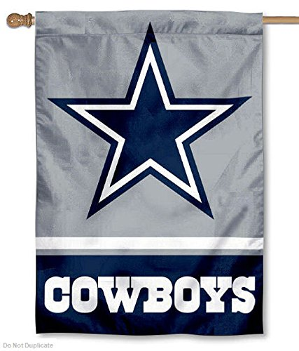 Dallas Cowboys Two Sided House Flag