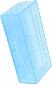 Aexit Caja de almacenamiento de caja de plástico duro azul para ...