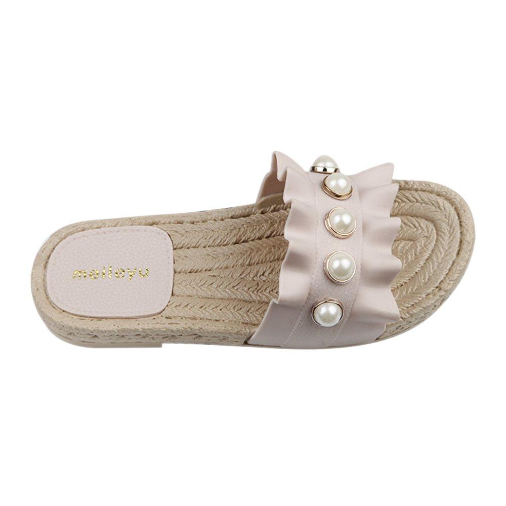 iFANS Summer Women Soft Non-Slip Pearl Beach Slipper Casual Flip-Flops
