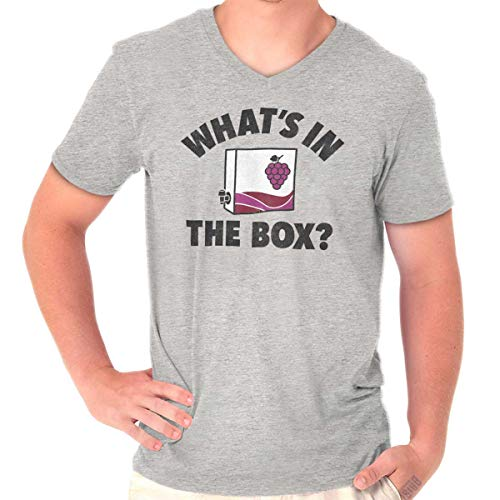 Whats in The Box Funny Wine Movie Quote V-Neck T Shirt