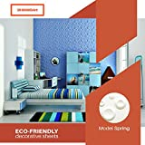 3D Board Art Decorative Wall Panels Pack of 32 Square Feet - White (Spring - 33 Tiles)